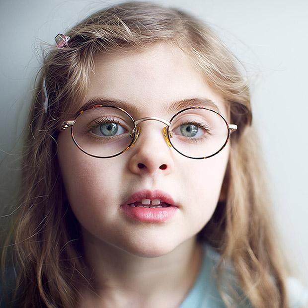 Back To School Eye Exam Girl Glasses
